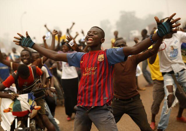 Apoiadores do candidato presidencial, Faustin Archange Touadéra, República Centro-Africana (foto de arquivo)