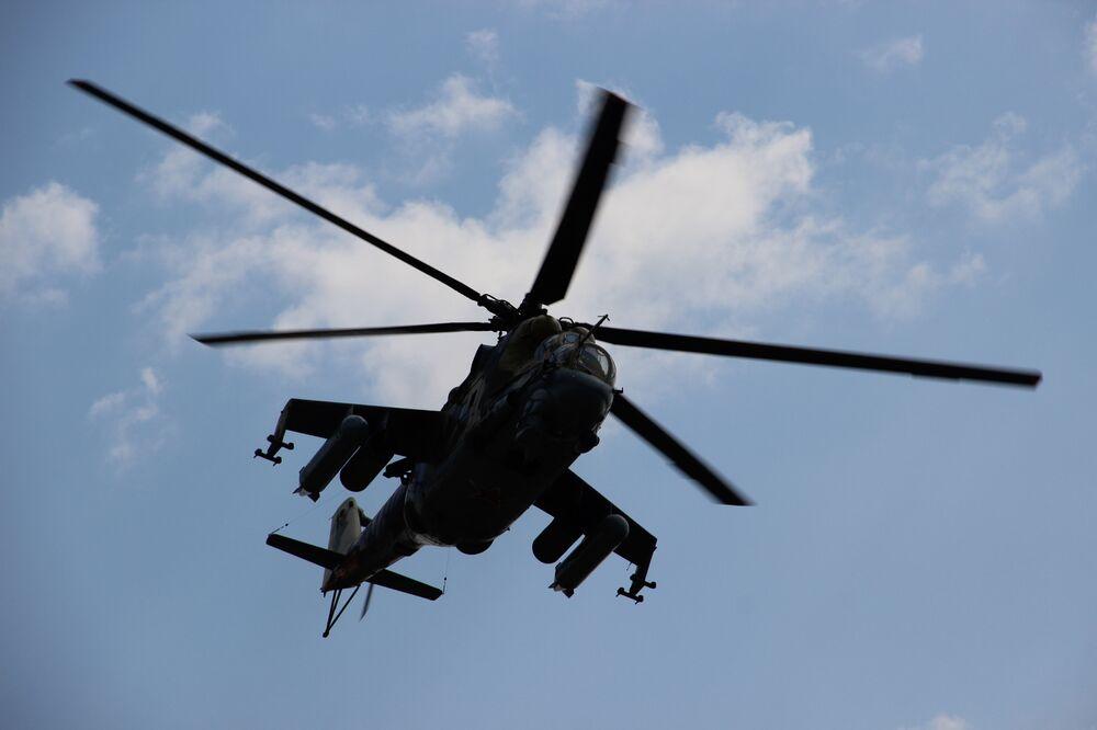 Helicóptero russo participa do consurso Otkrytaya Voda 2018