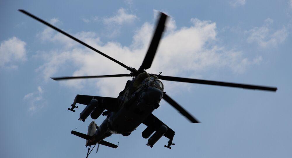 Helicóptero russo participa do concurso Otkrytaya Voda 2018