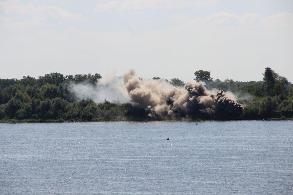 Mina explode durante o concurso Otkrytaya Voda 2018