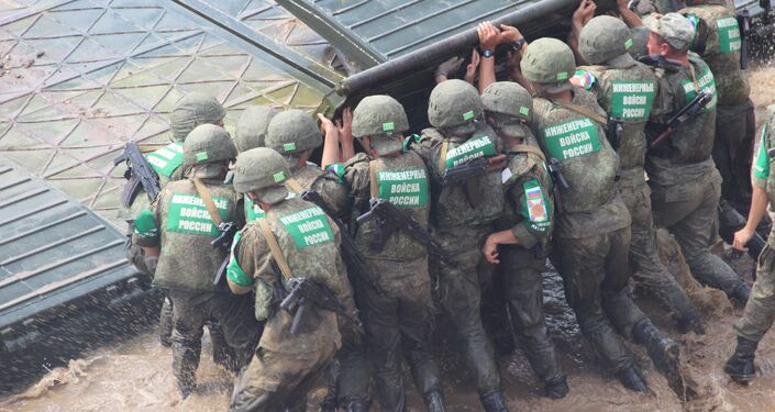 Militares das Tropas de Engenharia da Rússia participam do concurso Otkrytaya Voda 2018