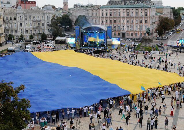Celebração do Dia de Independência em Kiev