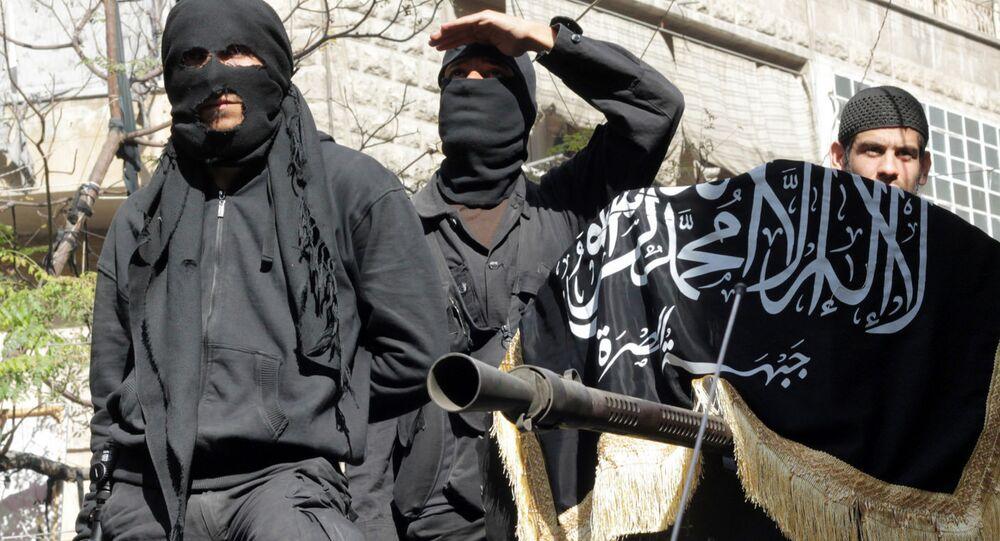 Terroristas da frente Nusra (arquivo)