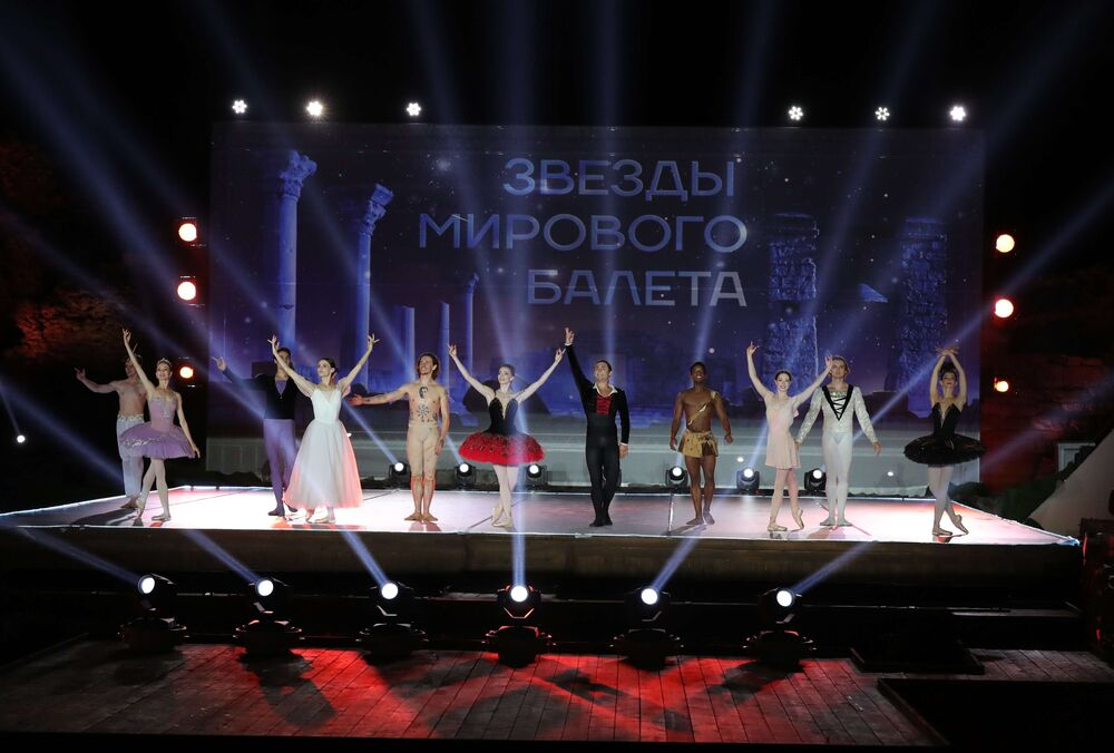 Abertura do festival Ópera em Khersones, na Crimeia, em 4 de agosto de 2018