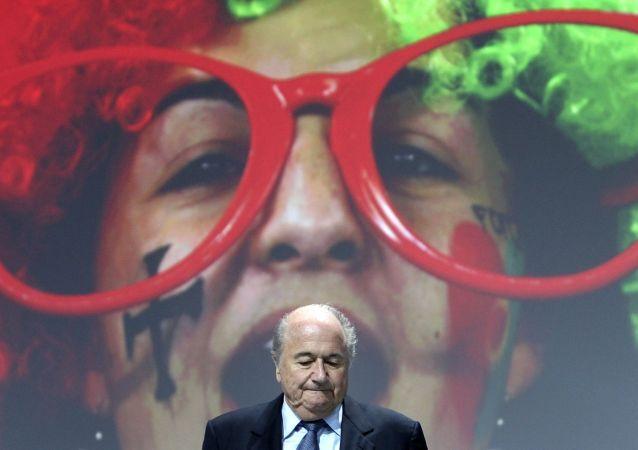 Joseph Blatter durante o 61 Congresso da FIFA em Zurique, em 1 de junho de 2011.