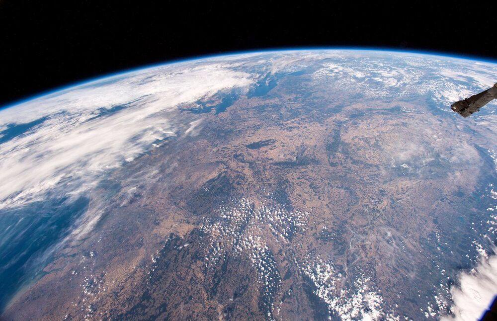 Europa Central afetada pela seca vista da Estação Espacial Internacional