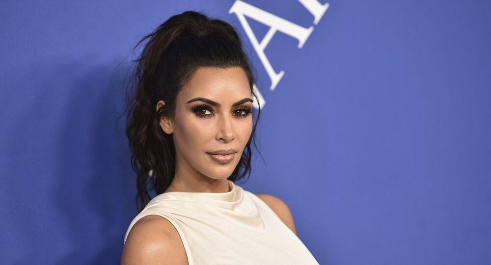Celebridade estadunidense Kim Kardashian