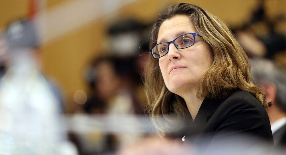 Chrystia Freeland, ministra das Relações Exteriores do Canadá