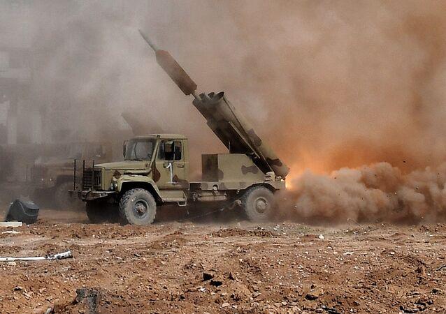Lançamento de um míssil na Síria (imagem ilustrativa)