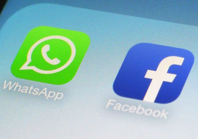 Logotipos do WhatsApp e Facebook