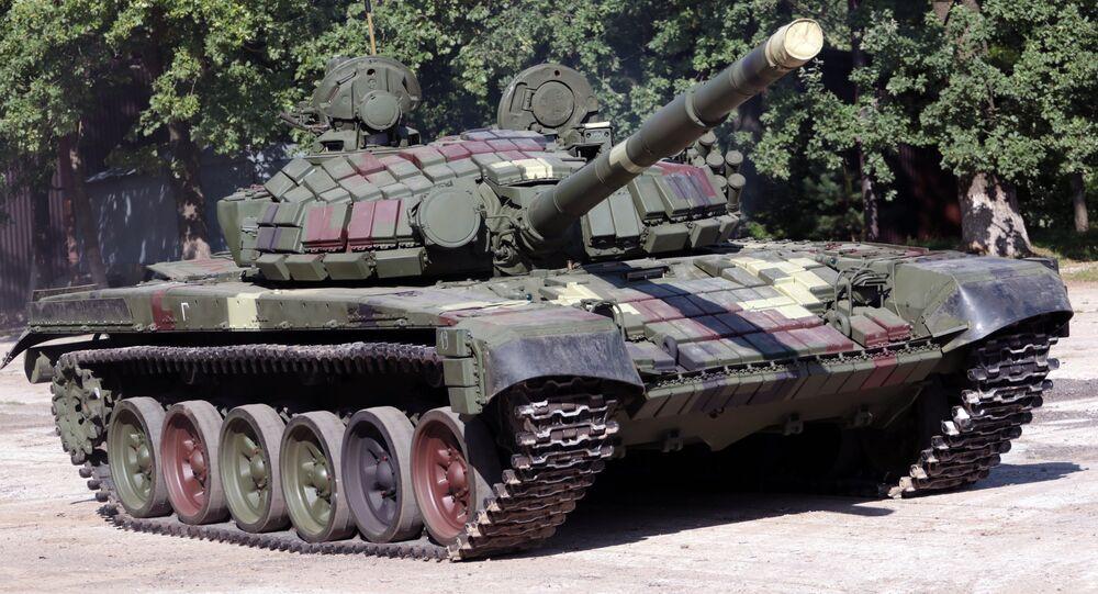 Tanque T-72 em Lvov, Ucrânia