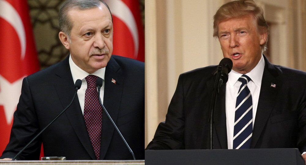 Presidente turco, Recep Tayyip Erdogan, e o líder norte-americano, Donald Trump