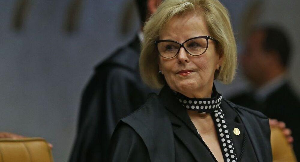 Ministra Rosa Weber durante julgamento do habeas corpus do ex-presidente Lula no STF