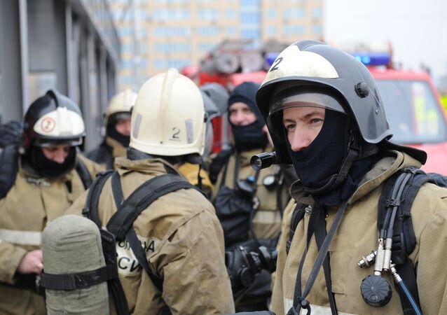 Funcionários do serviço de emergências de Rostov