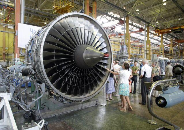Motor D-18T na linha de montagem da empresa ucraniana Motor Sich