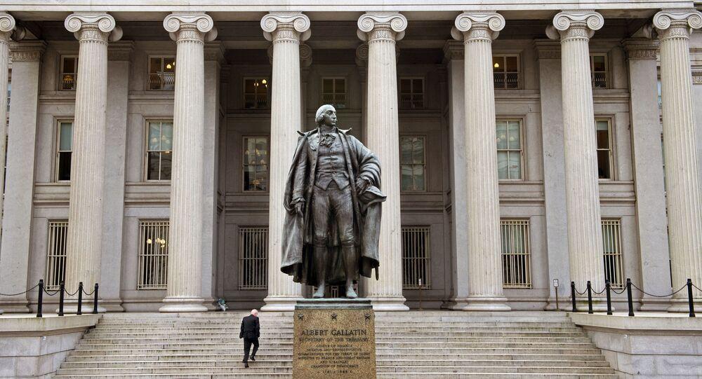 Edifício do Departamento do Tesouro dos EUA, em Washington, 24 de janeiro de 2017