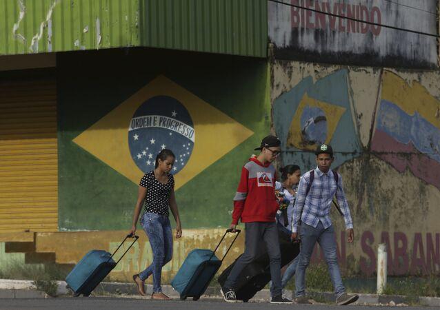 Imigrantes venezuelanos no estado de Roraima, Brasil (arquivo)