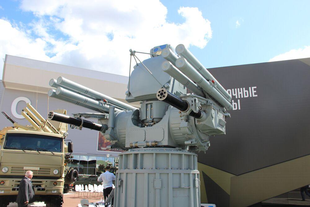 Complexo antiaéreo naval russo Pantsir-ME é mostrado durante o fórum militar EXÉRCITO 2018