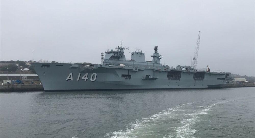 Porta-Helicópteros Multipropósito (PHM) Atlântico, adquirido pelo Brasil da Royal Navy, a Marinha britânica