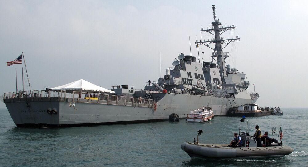 Destróier estadunidense USS The Sullivans (foto de arquivo)