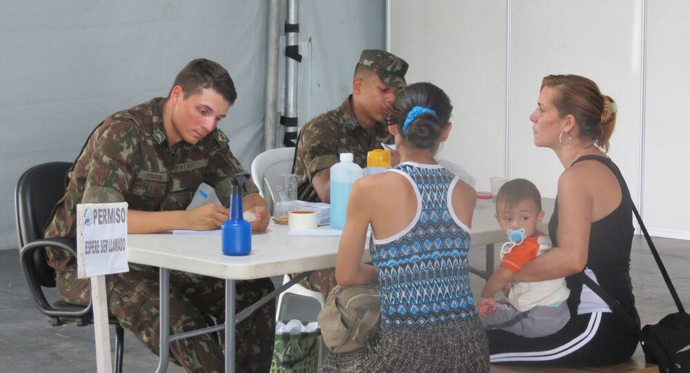 Posto de controle fronteiriço de Pacaraima, Roraima (arquivo)