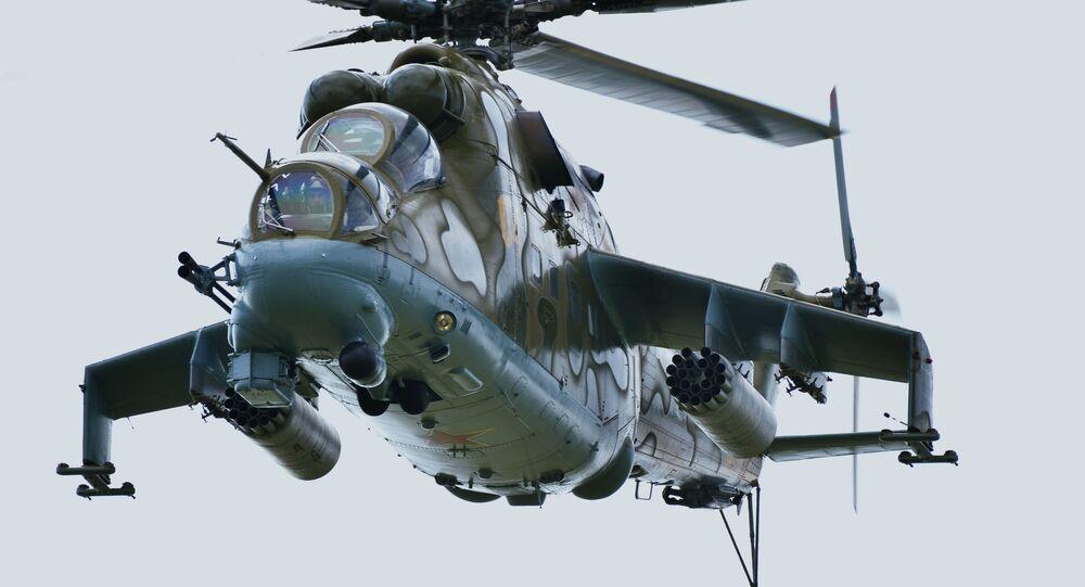 Helicóptero russo Mi-24 (imagem de arquivo)
