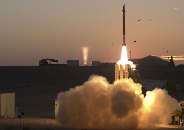 Lançamento do sistema de defesa antimíssil David Sling de Israel (imagem de arquivo)