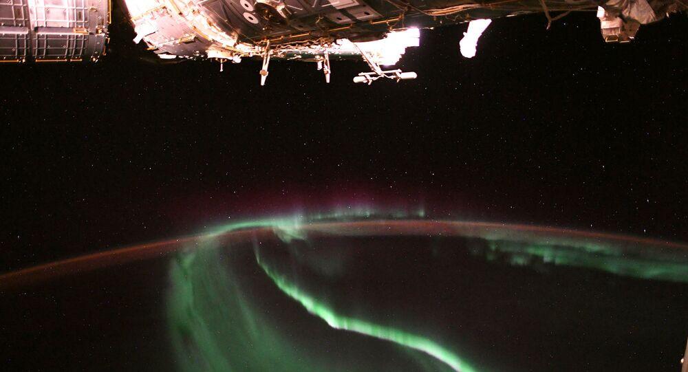 Aurora boreal vista da Estação Espacial Internacional