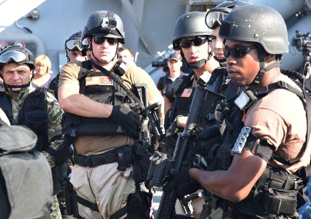 Militares dos EUA durante manobras conjuntas com a Ucrânia (foto de arquivo)