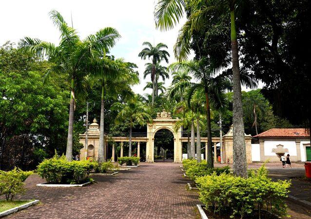 Entrada do Jardim Zoológico do Rio de Janeiro, na Quinta da Boa Vista, no bairro de São Cristóvão