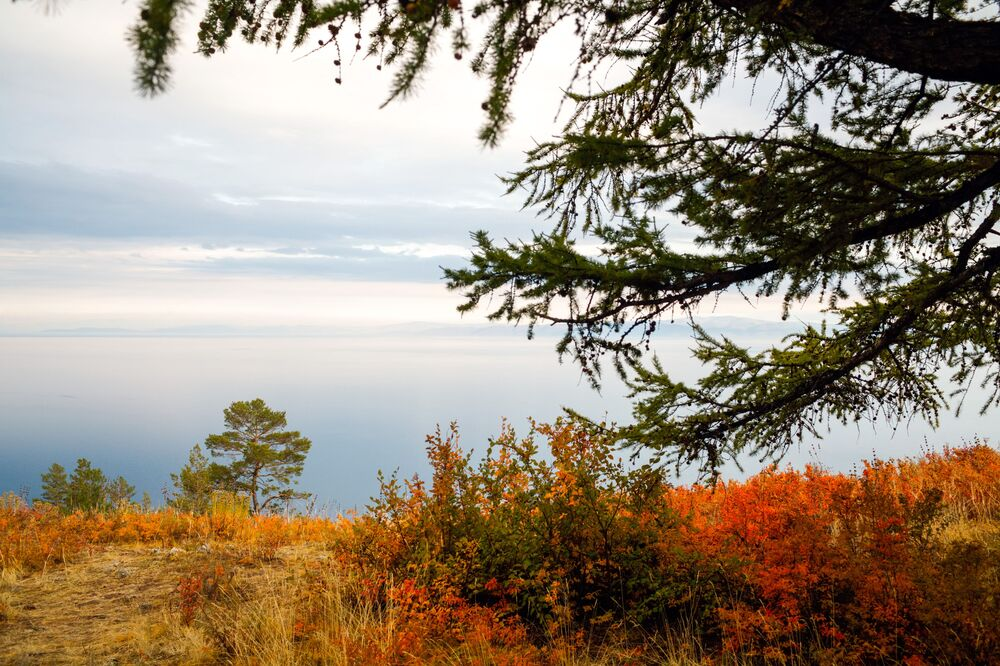 Vista da ilha de Olkhon localizada na Rússia, precisamente no lago Baikal, cosiderada a quarta maior ilha em lagos do mundo