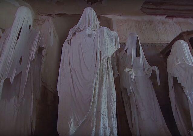 Igreja de São George, conhecida como Igreja Fantasma, localiza-se na pequena comunidade de Lukova, no nordeste da República Tcheca