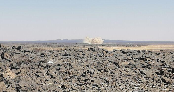 Exército sírio abriu a estada para as duas colinas principais para alcançar o último abrigo de militantes no deserto de As-Suwayda, no sul da Síria