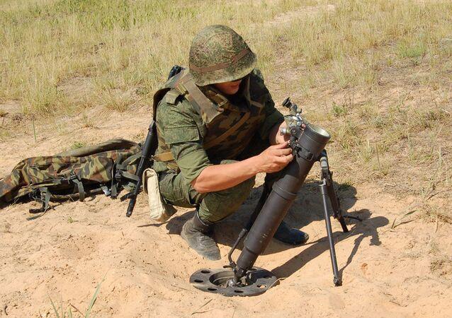 Lança-minas russo 2B25 Gall (foto de arquivo)
