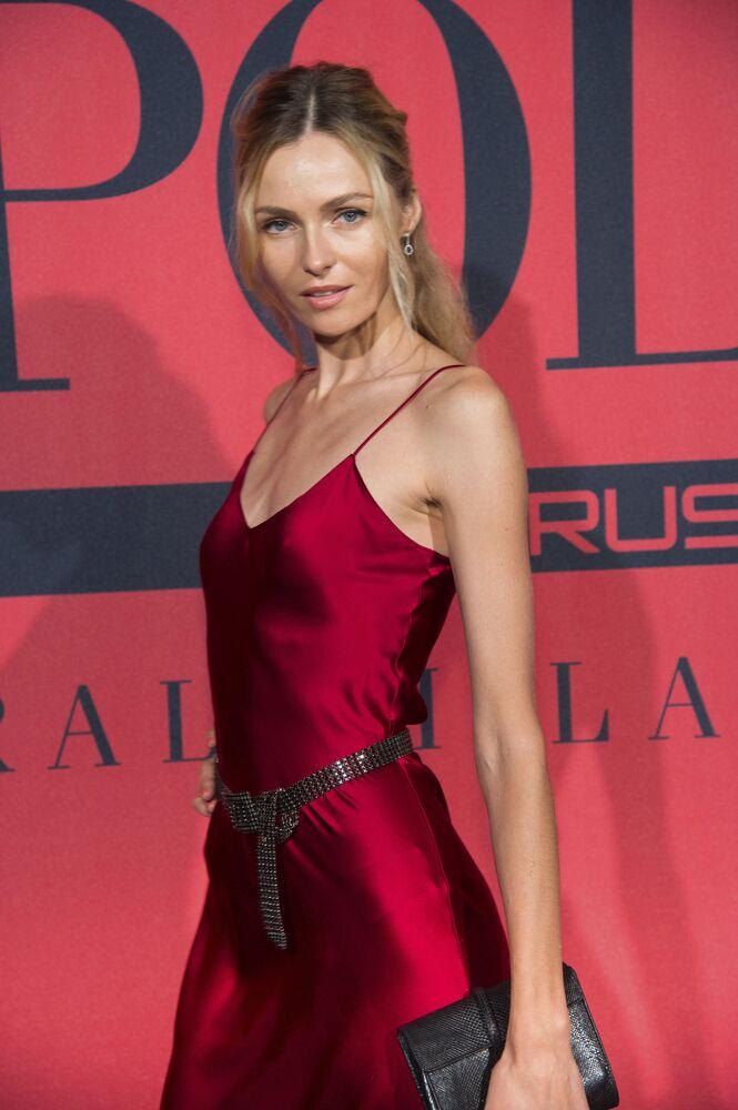 Supermodelo russa, Valentina Zelyaeva, participa de evento privado da Ralph Lauren, em Manhattan (EUA), em 25 de julho de 2018