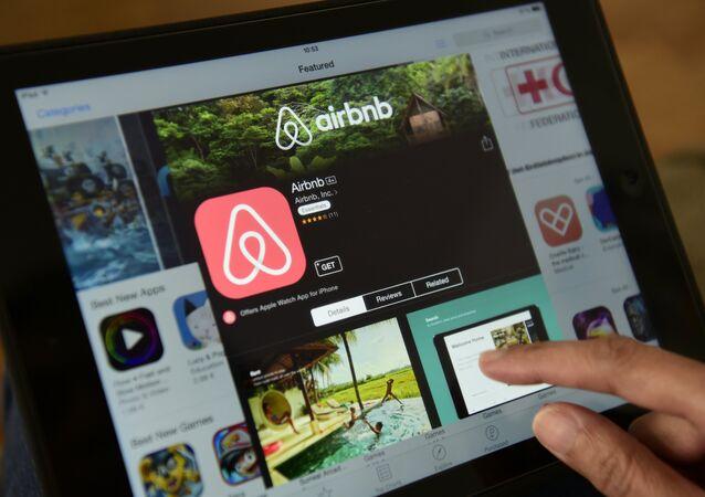 Site de compartilhamento de moradia Airbnb