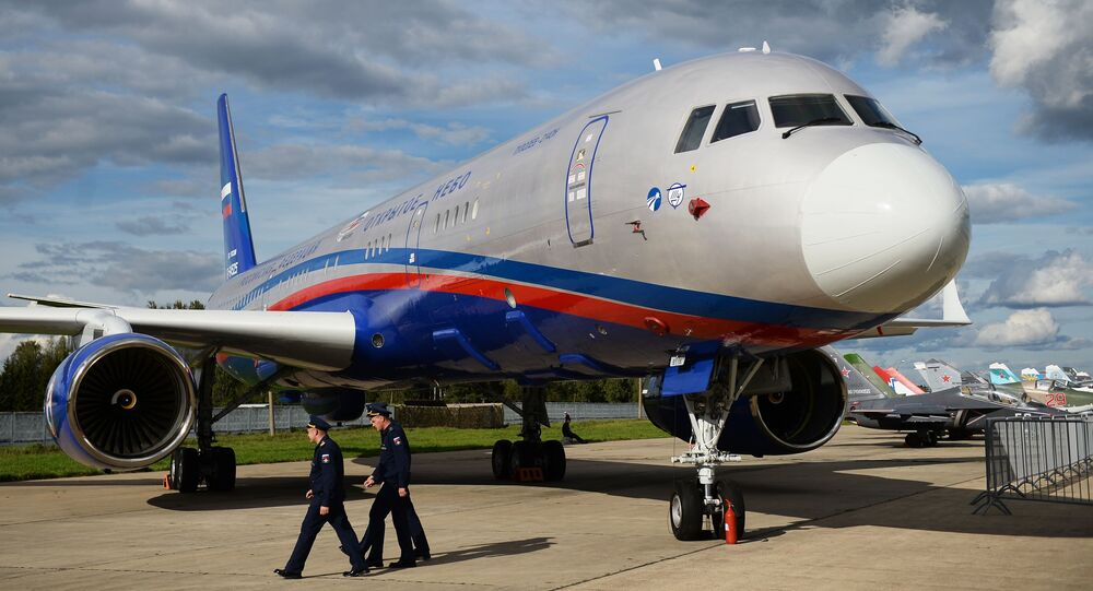 Avião de observação aérea Tu-214ON do Tratado Céus Abertos