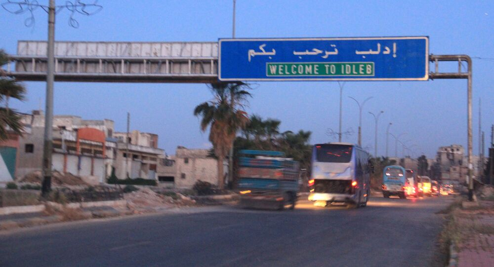Entrada da cidade de Idlib, Síria