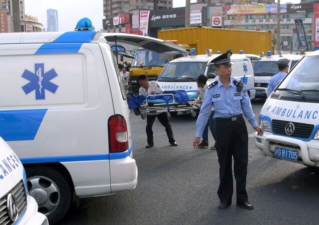 Ambulância chinesa (imagem referencial)