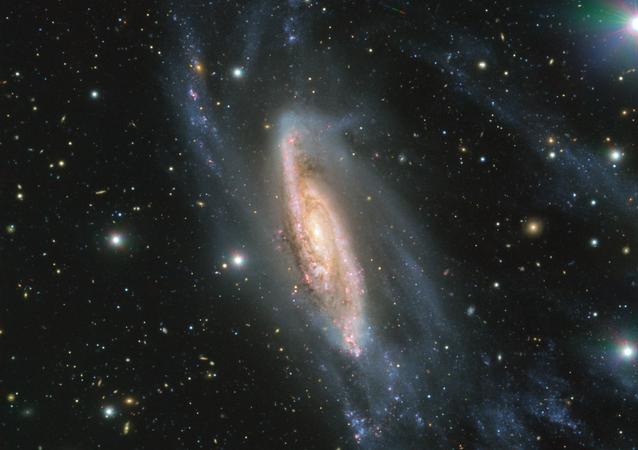 Observatório Europeu do Sul (ESO, sigla em inglês) capturou uma imagem impressionante da galáxia espiral conhecida como NGC 3981