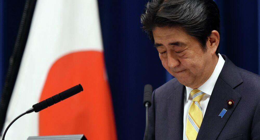 O primeiro-ministro do Japão Shinzo Abe