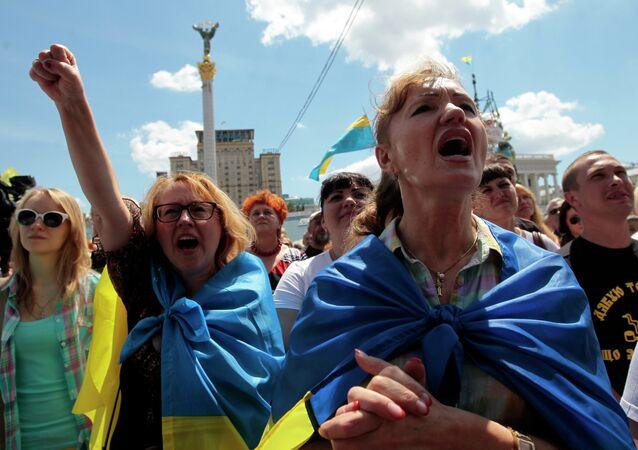 Manifestação em Kiev