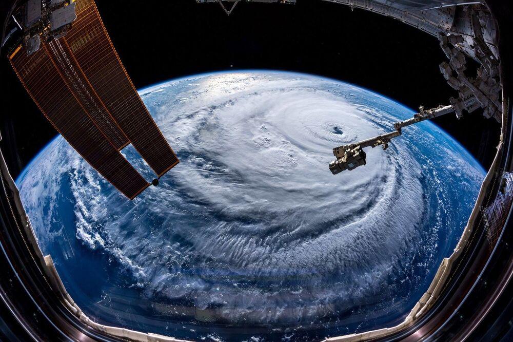 Furacão Florença, fotografado pelo astronauta Alexander Gerst, na Estação Espacial Internacional (ISS)