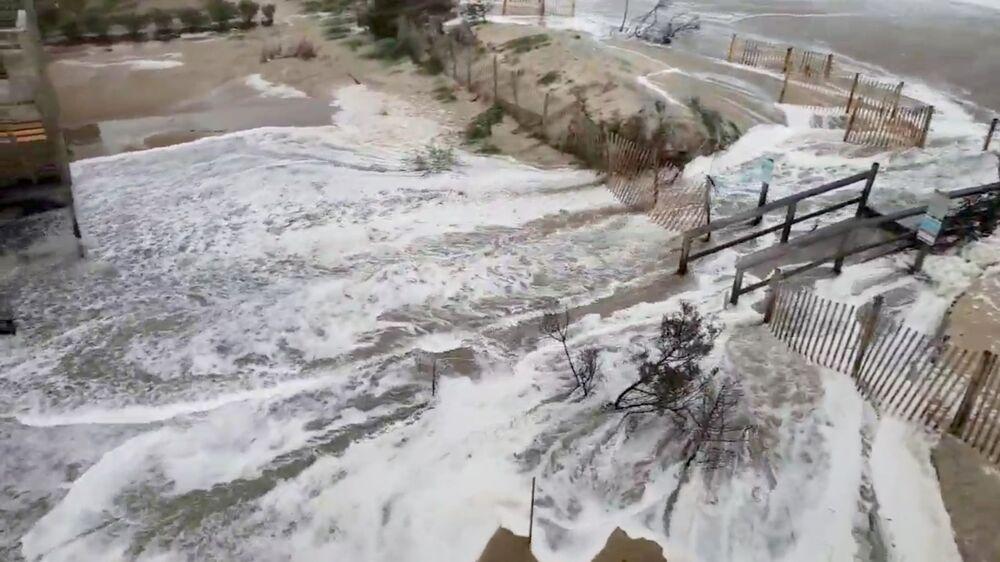 Correntes d'água em Avon, Carolina do Norte