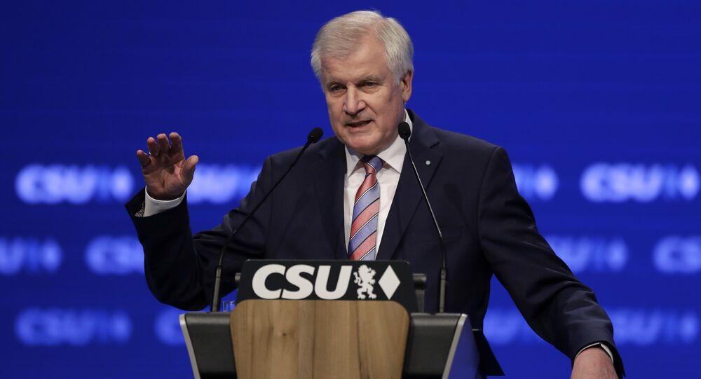 Ex-governador da Baviera e presidente do partido da União Social Cristã Alemã, CSU, Horst Seehofer.