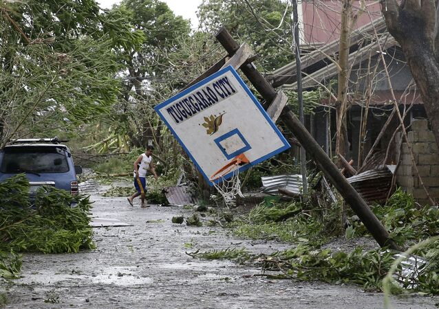 Tufão Mangkhut.