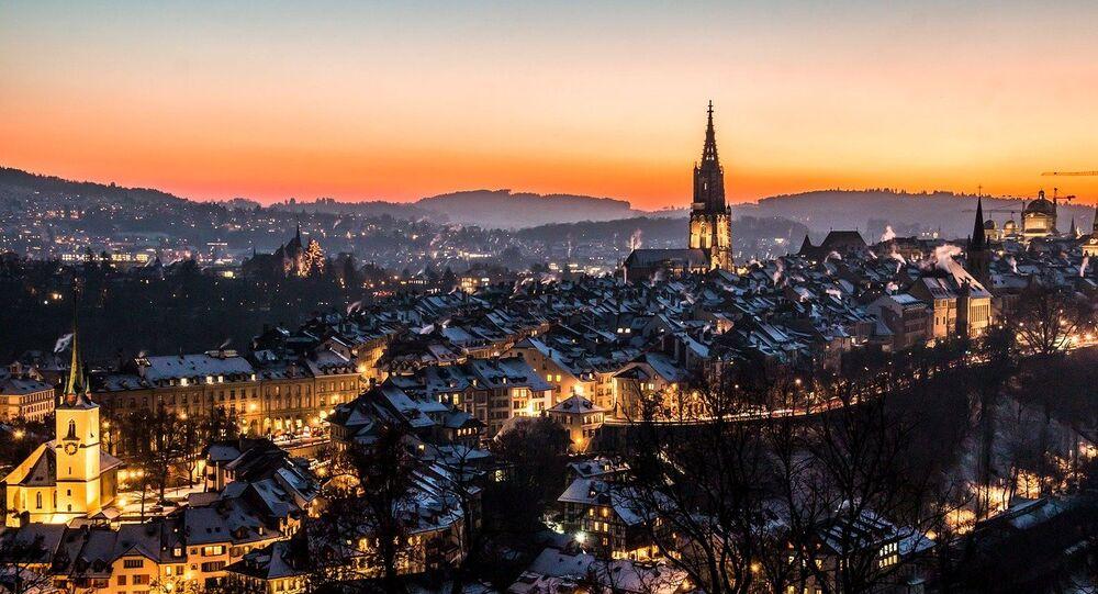 Uma foto da cidade velha de Berna, Suíça, tirada do parque de Rosengarten. (Arquivo)