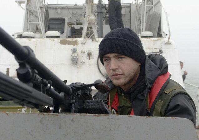 Serviço fronteiriço da guarda costeira ucraniana no mar de Azov (foto de arquivo)