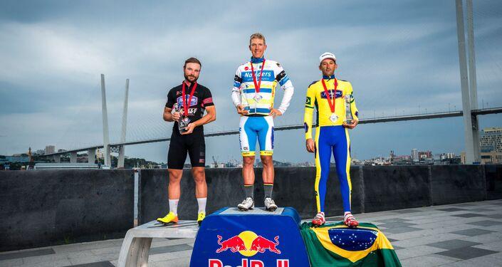 O ciclista brasileiro Marcelo Florentino Soares ficou em 3º lugar na Red Bull Trans-Siberian Extreme