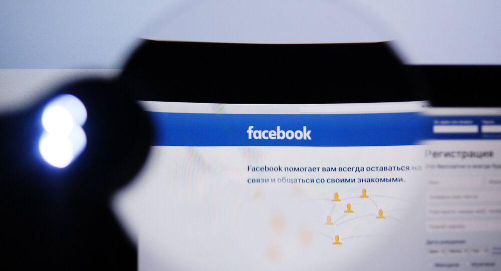 Pagina inicial do Facebook